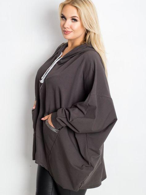 Khaki bluza plus size New                              zdj.                              3