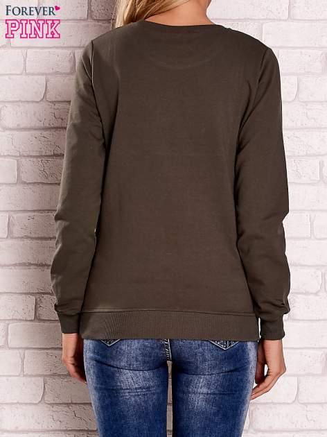 Khaki bluza z motywem paryskim                                  zdj.                                  4