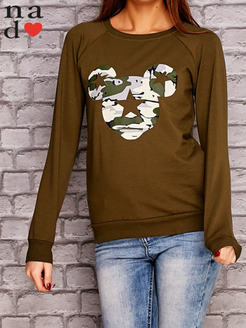 Khaki bluza z nadrukiem moro                                  zdj.                                  1