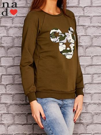 Khaki bluza z nadrukiem moro                                  zdj.                                  4
