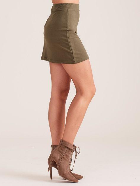Khaki dresowa spódnica mini                              zdj.                              3
