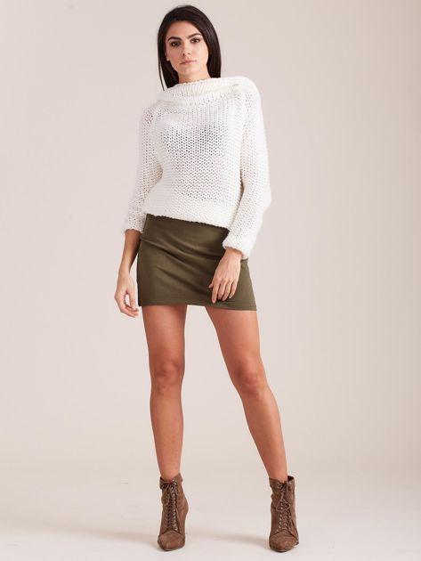 Khaki dresowa spódnica mini                              zdj.                              4