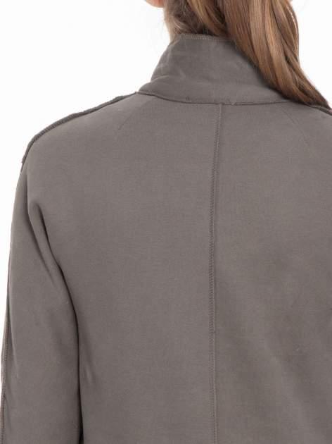 Khaki dresowy płaszcz o kroju oversize                                  zdj.                                  9
