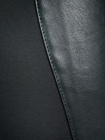 Khaki dwustronne legginsy skórzane                                  zdj.                                  3