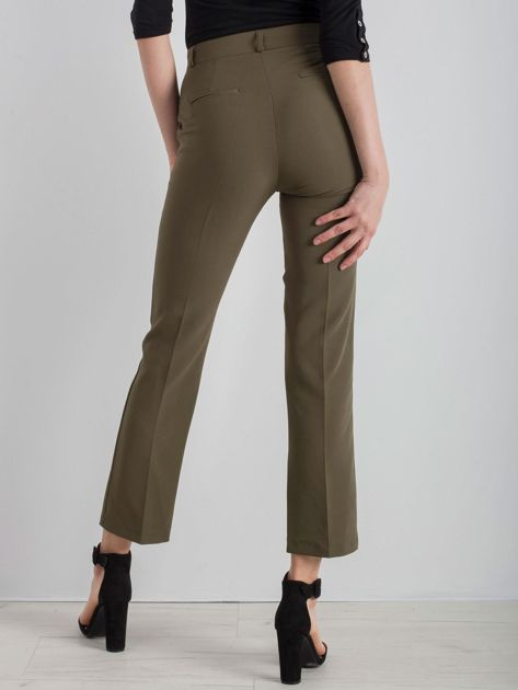 Khaki eleganckie spodnie                              zdj.                              2