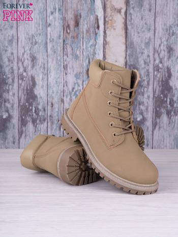 Khaki jednolite buty trekkingowe Elyia damskie traperki ocieplane                                  zdj.                                  3