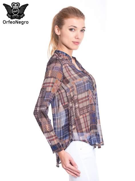 Khaki koszula damska w kratę                                  zdj.                                  3