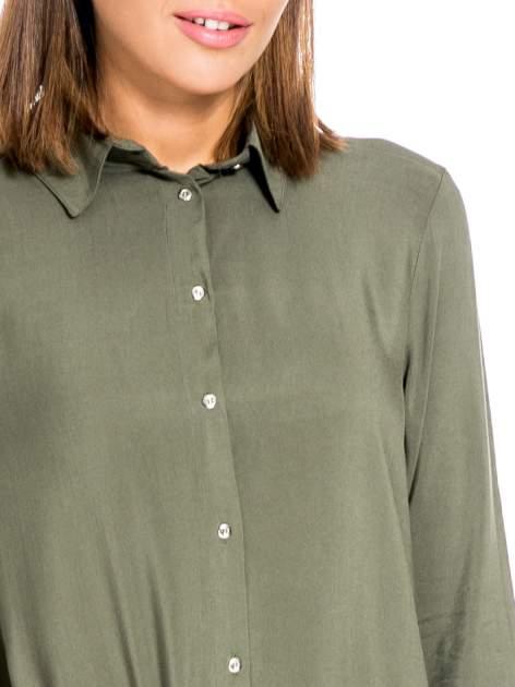 Khaki koszula damska z zamkiem z tyłu                                  zdj.                                  6
