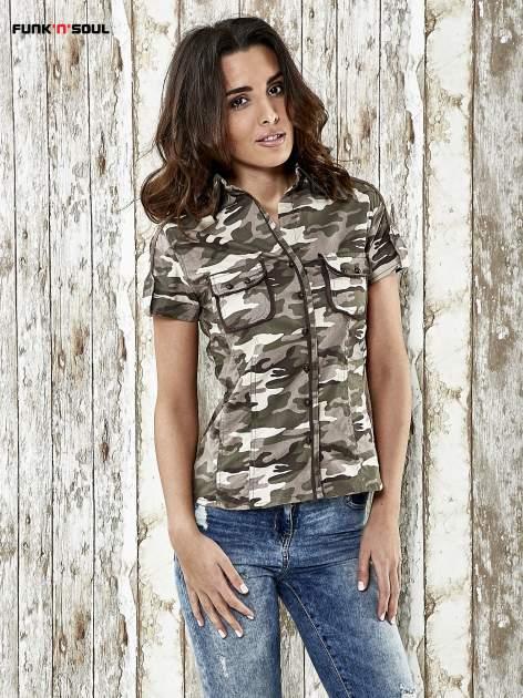 Khaki koszula w militarnym stylu Funk n Soul                                  zdj.                                  1