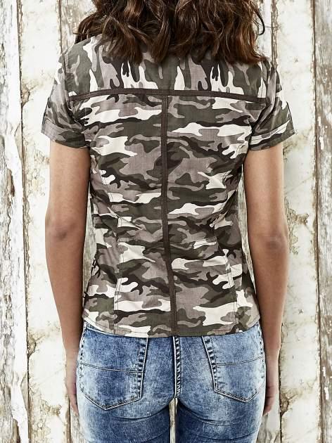 Khaki koszula w militarnym stylu Funk n Soul                                  zdj.                                  6