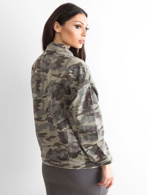 Khaki kurtka jeansowa Fearless                              zdj.                              2