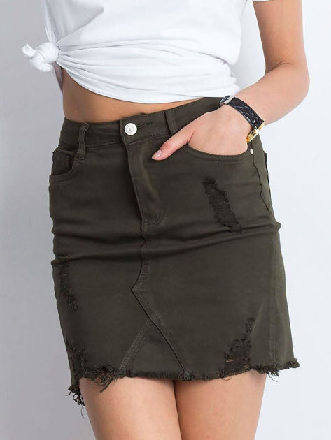 Khaki spódnica Along                              zdj.                              1