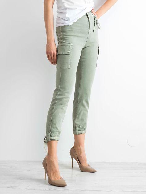 Khaki spodnie Vintage                              zdj.                              3