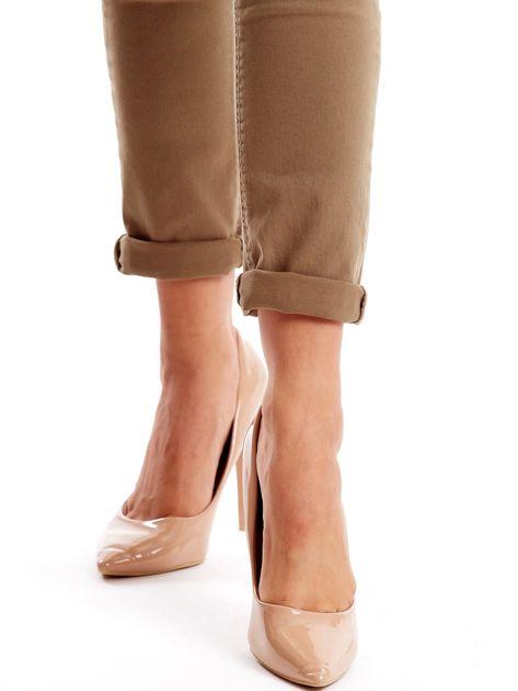 Khaki spodnie damskie o prostym kroju                              zdj.                              6
