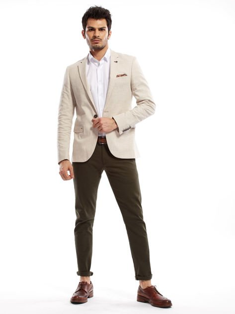 Khaki spodnie męskie chinos                              zdj.                              6