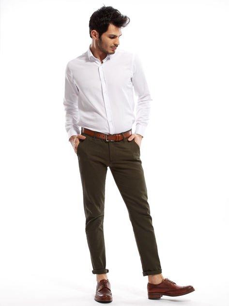 Khaki spodnie męskie chinos                              zdj.                              14