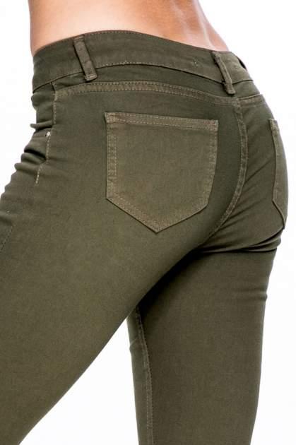 Khaki spodnie typu skinny z elastycznego materiału                                  zdj.                                  7