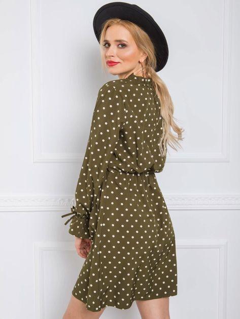 Khaki sukienka Amanda RUE PARIS
