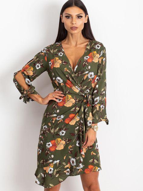 Khaki sukienka Maybe                              zdj.                              1