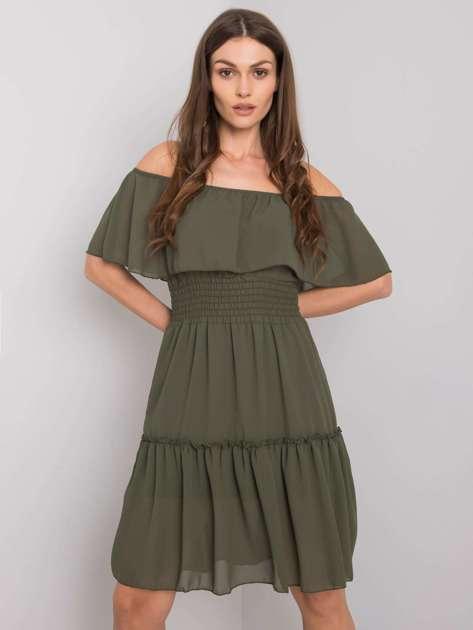 Khaki sukienka hiszpanka Eria