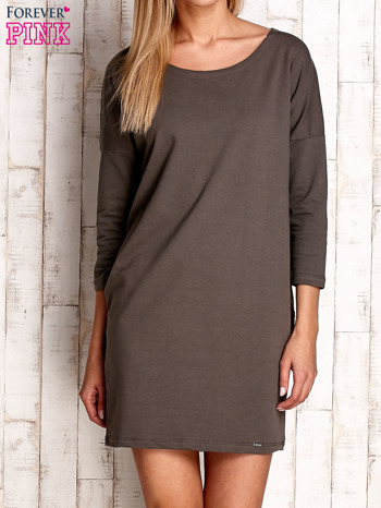 Khaki sukienka oversize                              zdj.                              1