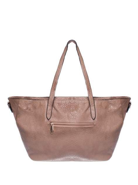 Khaki torebka shopper bag z apaszką                                  zdj.                                  2