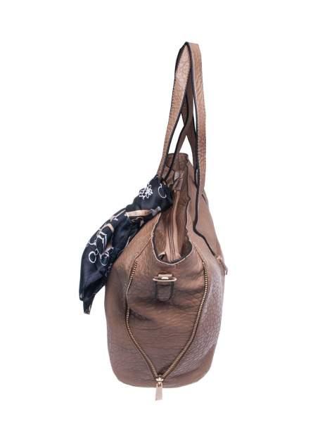 Khaki torebka shopper bag z apaszką                                  zdj.                                  3