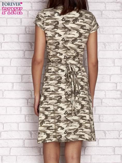Khaki wiązana sukienka w militarnym stylu Funk n Soul                                  zdj.                                  2