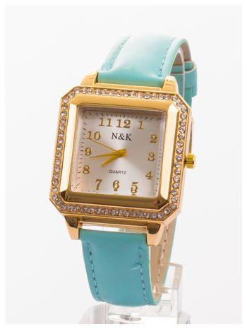 Klasyczny damski zegarek zdobiony cyrkoniami.                                   zdj.                                  1