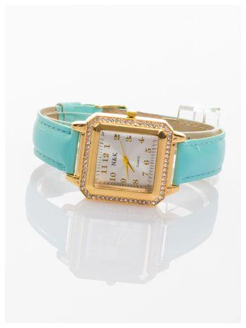 Klasyczny damski zegarek zdobiony cyrkoniami.                                   zdj.                                  2