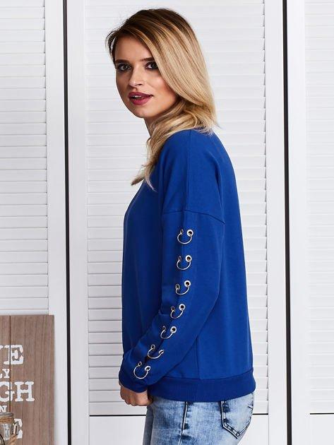 Kobaltowa bluza z kółeczkami                              zdj.                              5