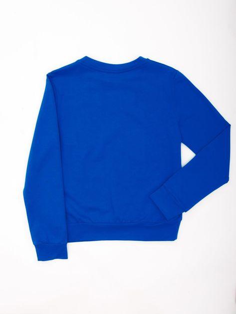 Kobaltowa bluza młodzieżowa                              zdj.                              2