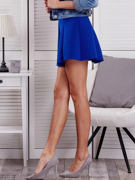 Kobaltowa rozkloszowana spódnica damska                              zdj.                              3