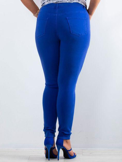 Kobaltowe spodnie North PLUS SIZE                              zdj.                              2