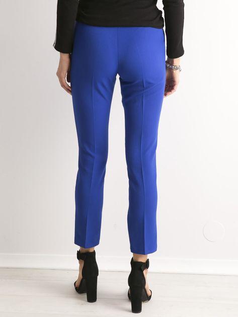 Kobaltowe spodnie z wiązaniem                               zdj.                              3