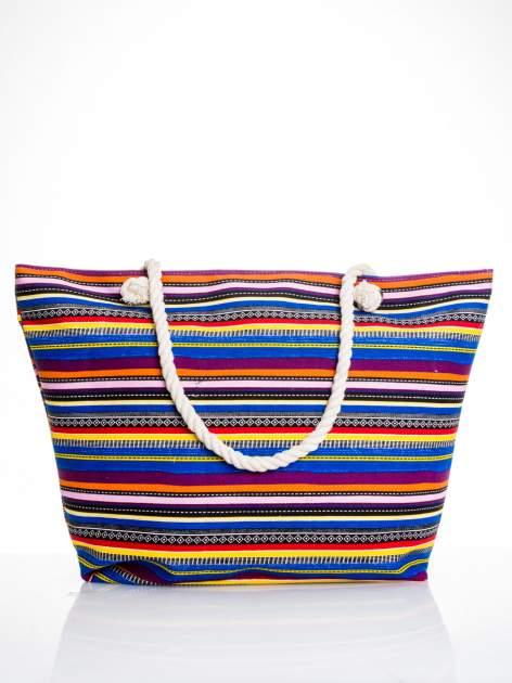 Kolorowa torba plażowa w paski
