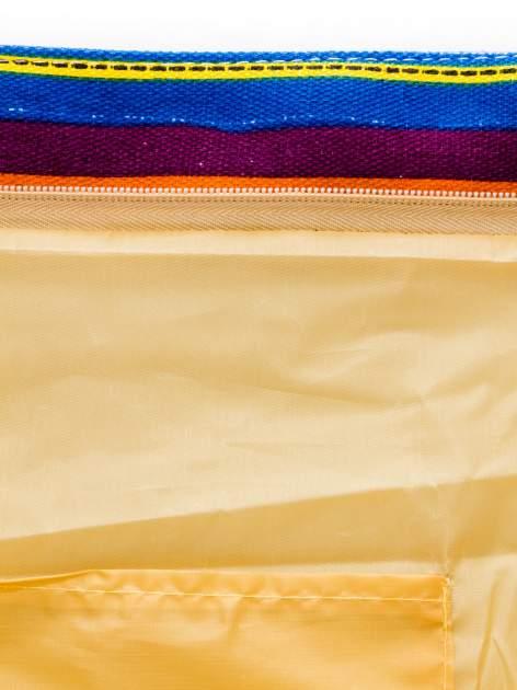 Kolorowa torba plażowa w paski                                  zdj.                                  9
