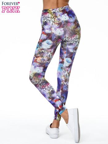 Kolorowe legginsy z kwiatowym nadrukiem                                   zdj.                                  4