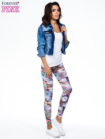 Kolorowe legginsy z kwiatowym nadrukiem                                   zdj.                                  2