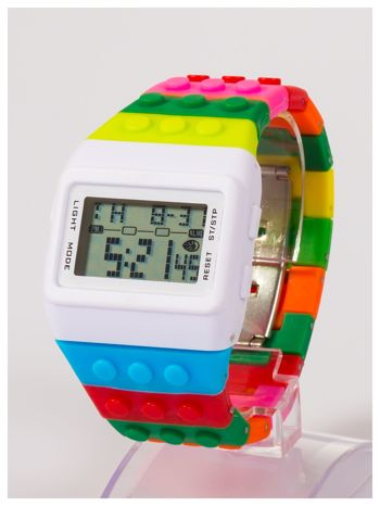 Kolorowy i modny elektroniczny zegarek unisex                                  zdj.                                  1