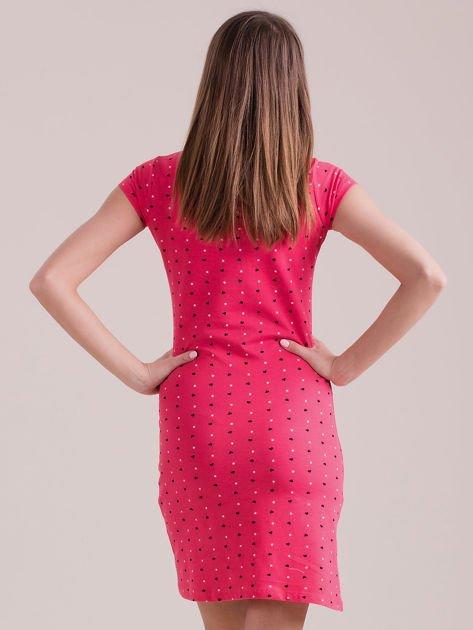 Koralowa sukienka polo w serduszka                              zdj.                              2