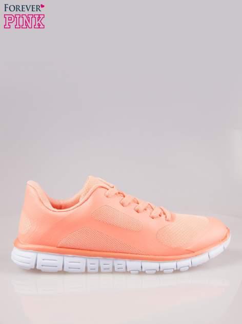 Koralowe buty sportowe eco leather Fruity z podeszwą z rowkami flex                                  zdj.                                  1
