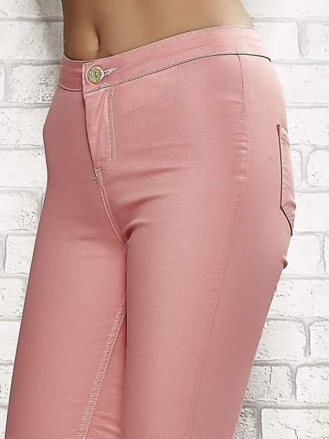 Koralowe spodnie rurki skinny                                  zdj.                                  5