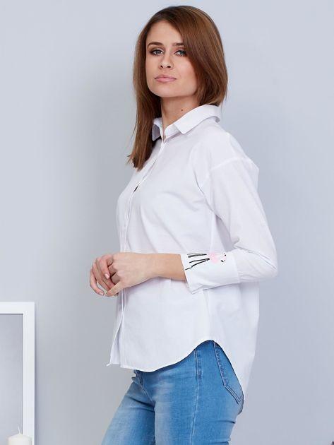 Koszula biała z flamingami                                  zdj.                                  3