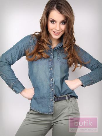 Koszula jeansowa z nakładkami                                   zdj.                                  1