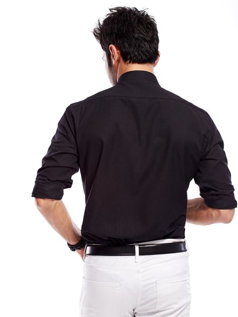 Koszula męska czarna regular fit                              zdj.                              2