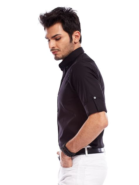 Koszula męska czarna slim fit                              zdj.                              8