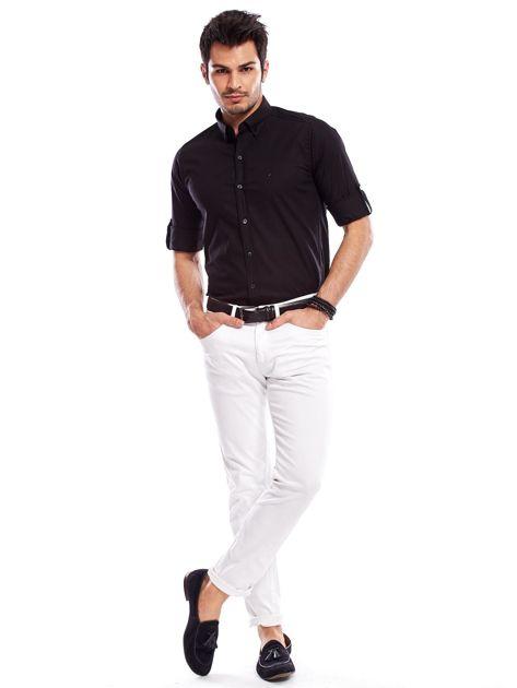 Koszula męska czarna slim fit                              zdj.                              9