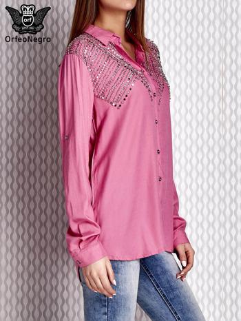 Bluzka z aplikacją różowa                              zdj.                              4