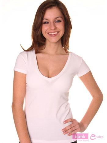 Koszulka z dekoltem.                                  zdj.                                  1
